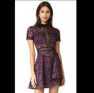SELF-PORTRAIT 'eliza' Panelled Cutwork Dress